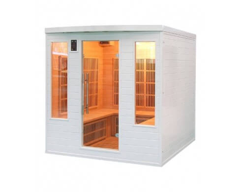 sauna infrarouge france sauna soleil blanc 4 5 places
