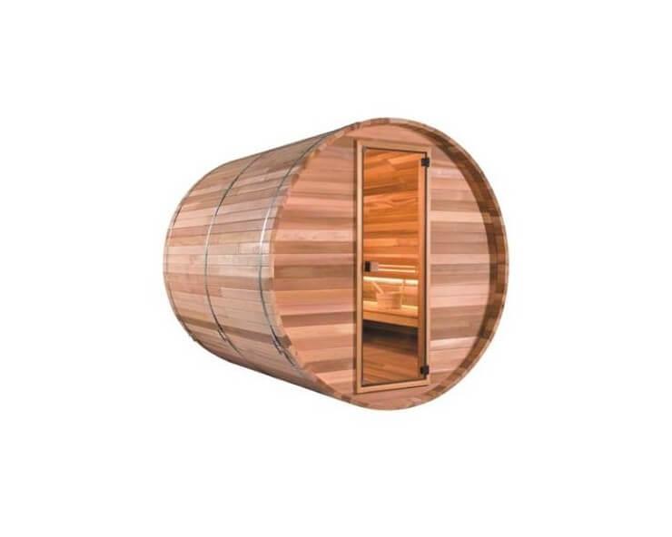 sauna exterieur tonneau barrel