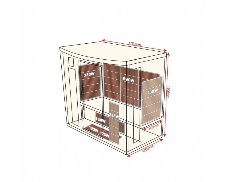 sauna infrarouge apollon 4 personnes