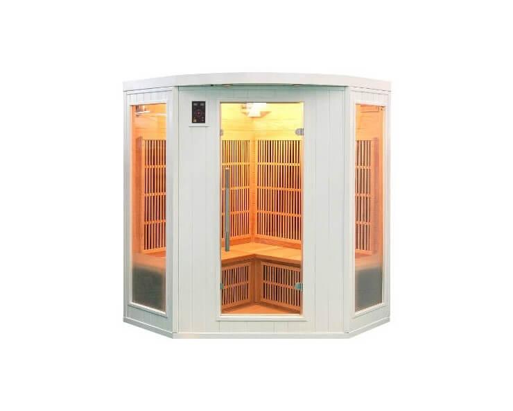france sauna sauna infrarouge soleil blanc 3 places