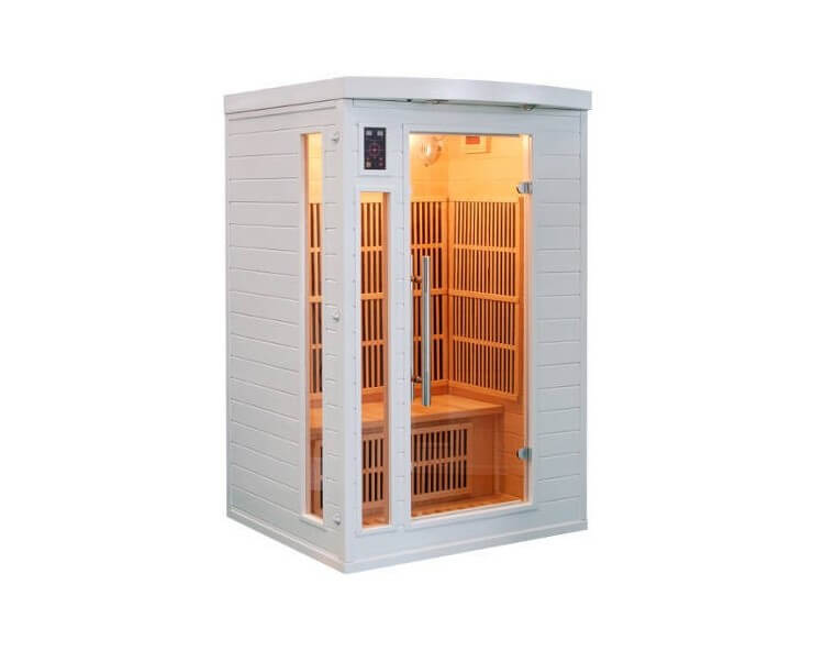 sauna infrarouge soleil blanc 2 3 places france sauna
