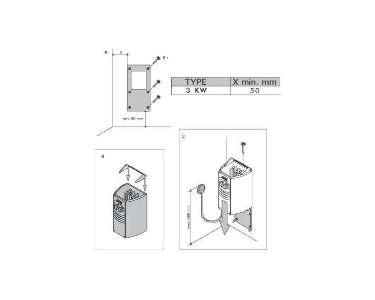 poele sauna harvia vega 3 5 kw monophase