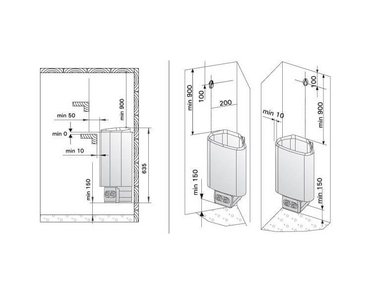 Poêle pour sauna Harvia Delta 3,6 kW