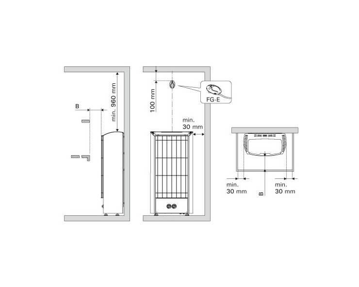 poele sauna vapeur harvia figaro 9 kw