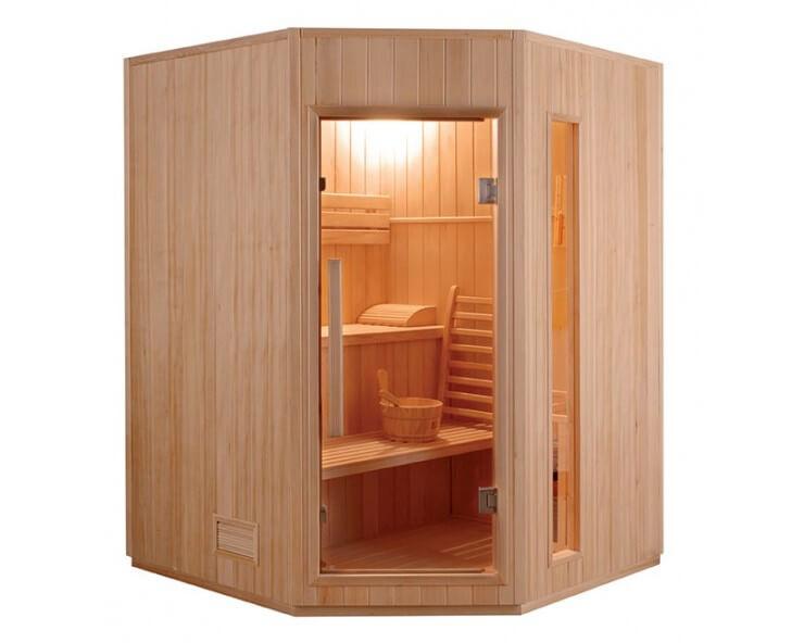 sauna vapeur angulaire zen 3 a 4 places