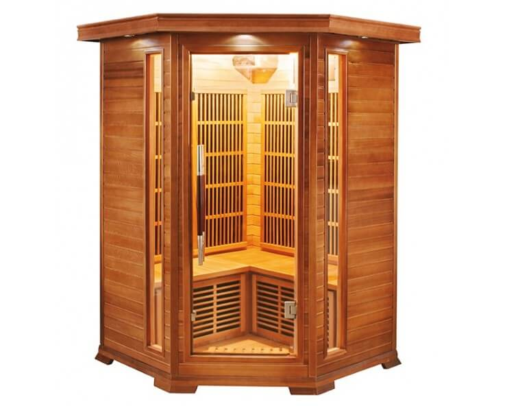 sauna angulaire luxe 2 a 3 places