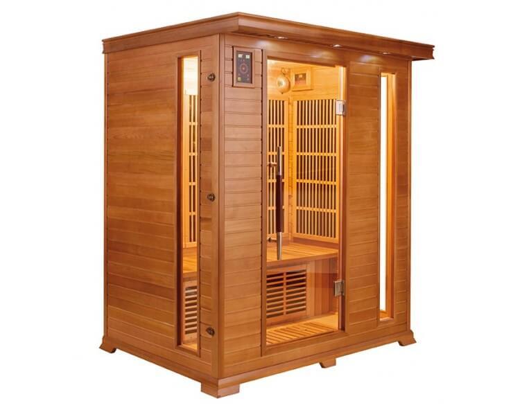 sauna luxe 3 places france sauna