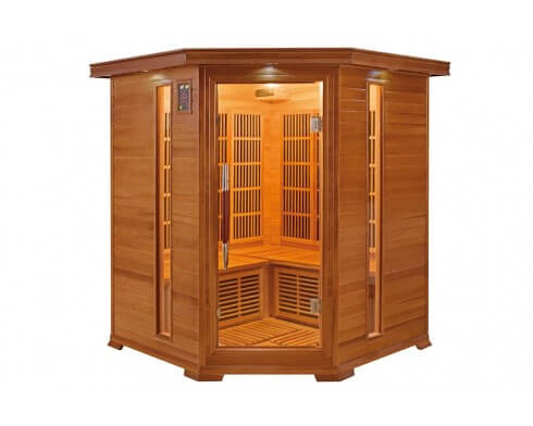 sauna infrarouge luxe 3 a 4 places