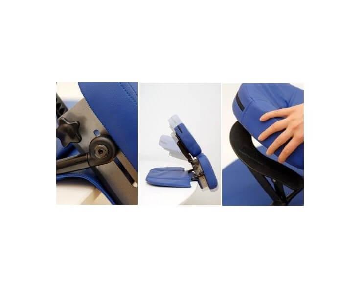 chaise de massage oakworks bleue