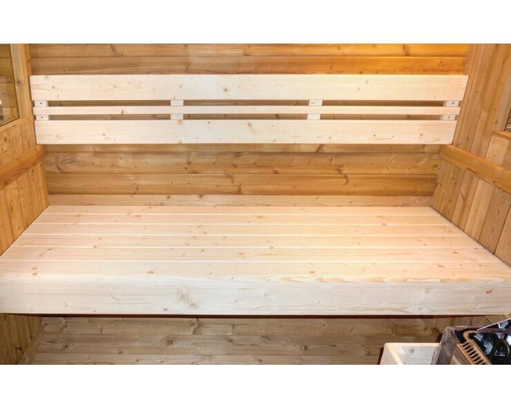 sauna en bois extérieur