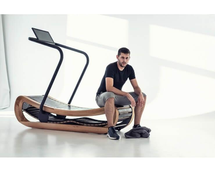 tapis de marche sans moteur sprintbok chene