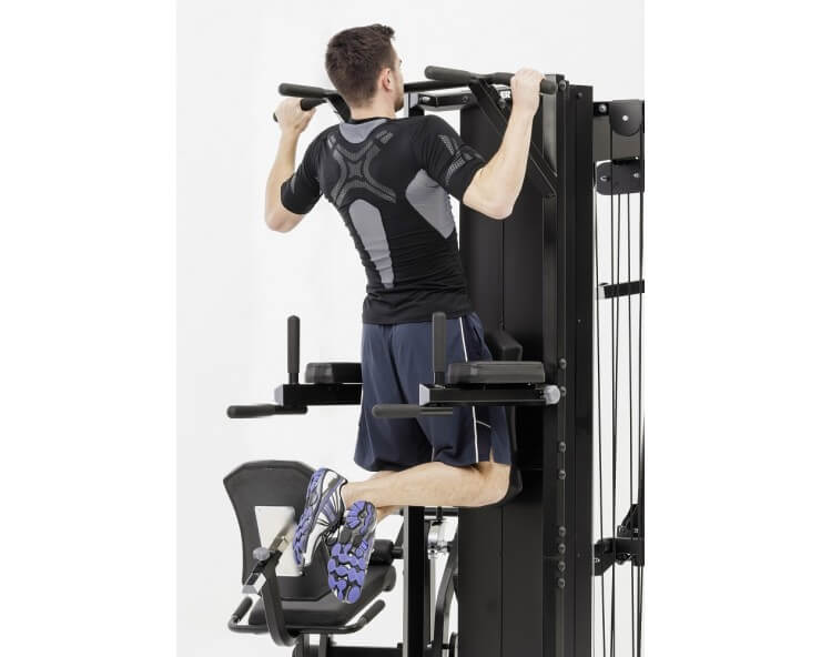 kettler appareil musculation kinetic system module station dips / chaise romaine