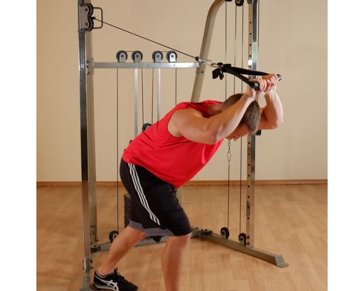 Poulies vis a vis multifonction body solid bfft10 triceps