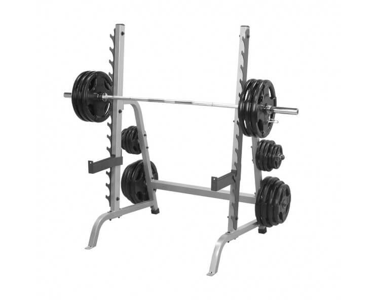 Pack Spécial Squat BODY SOLID (Rack GPR370+Barre OLSPB220+Poids 60kg)
