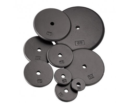 Pack confirmés de rubber disques standards BODY SOLID SRP (60kg)