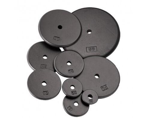 Pack confirmés de rubber disques standards BODY SOLID SRP (60kg)