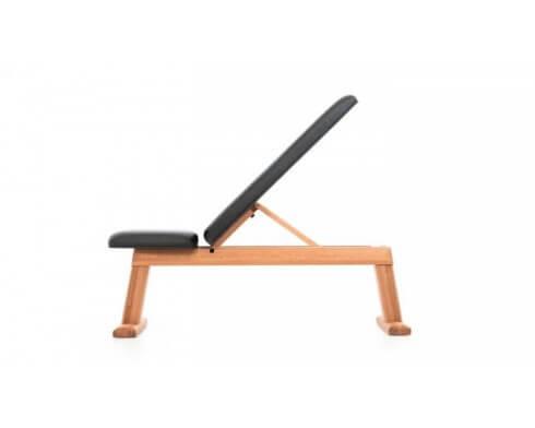 weight bench merisier simili cuir