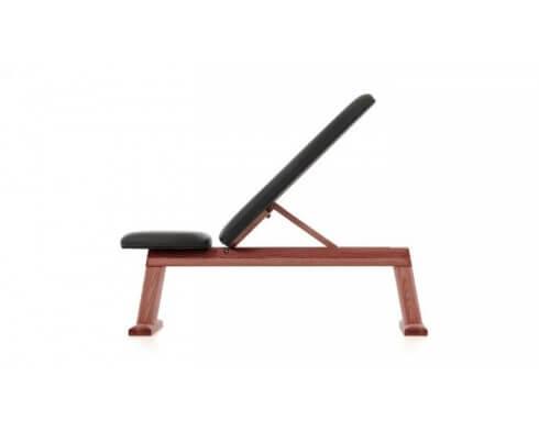 banc en bois Weight Bench Club Sport simili cuir