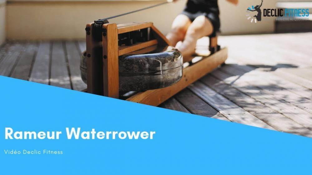 Rameur waterrower en noyer
