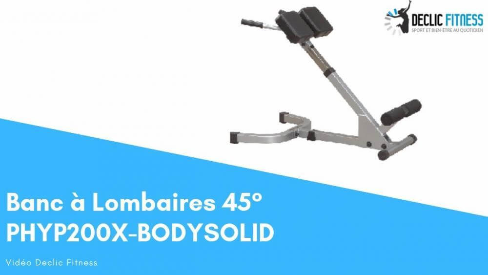 Banc à Lombaires 45° BODY SOLID PHYP200X