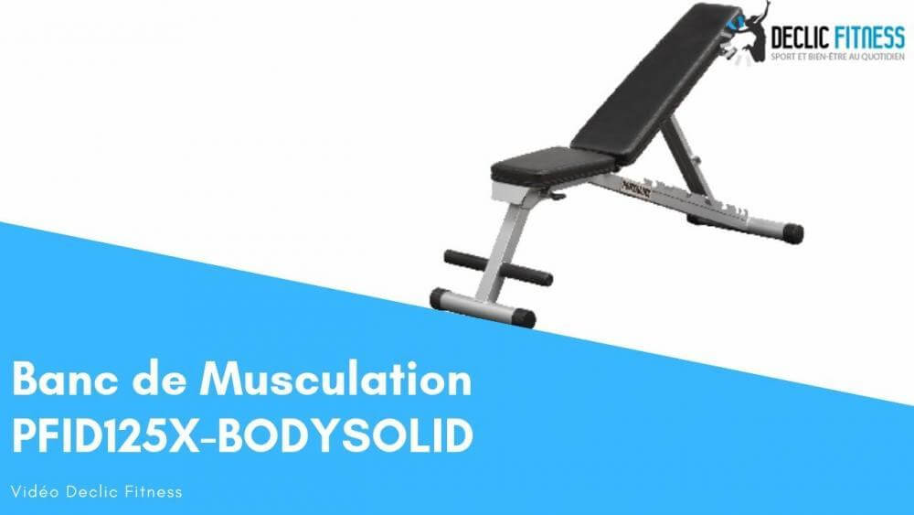 Banc de Musculation Multipositions Pliable BODY SOLID PFID125X