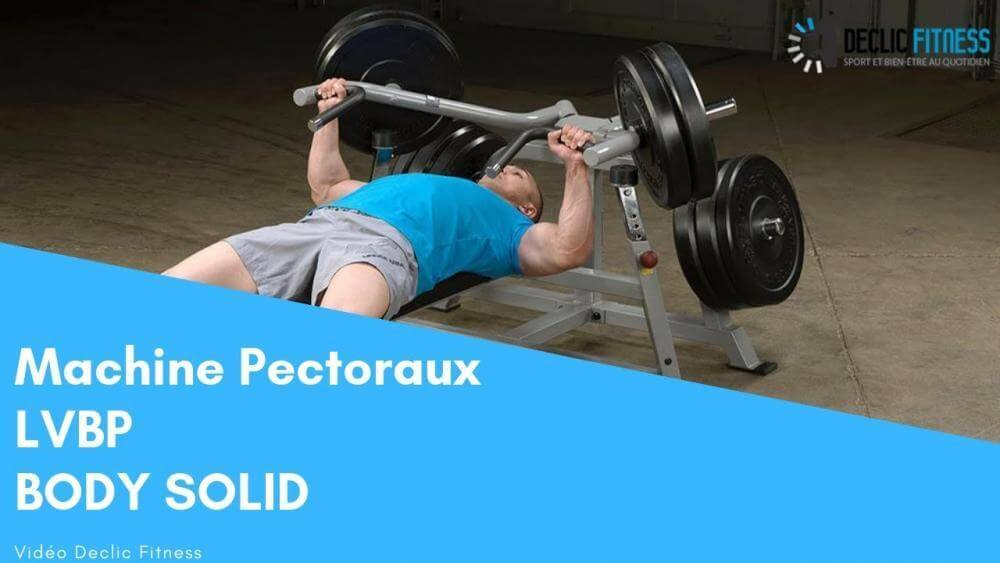 Machine Pectoraux guidée Body Solid LVBP - Declicfitness