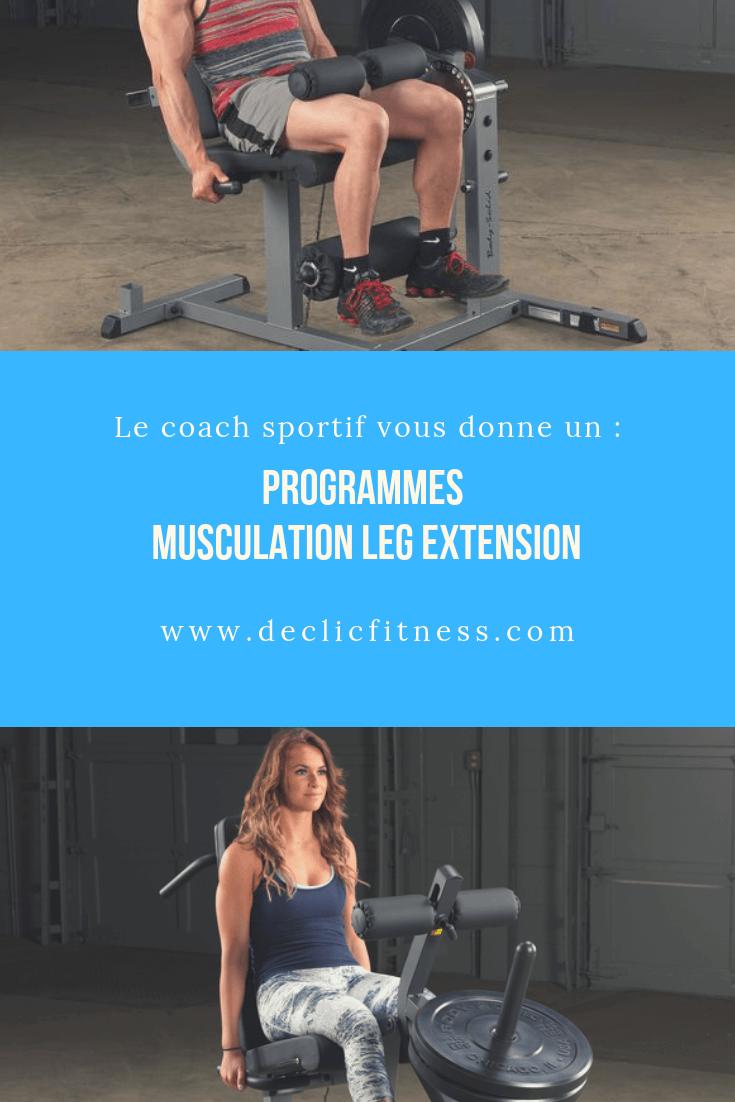 programme musculation leg extension