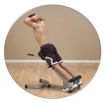 extension lombaire programme musculation avec banc de musculation