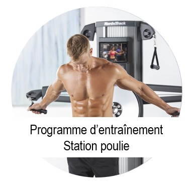 programme musculation station poulie
