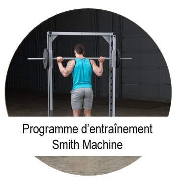 programme pour la musculation smith machine