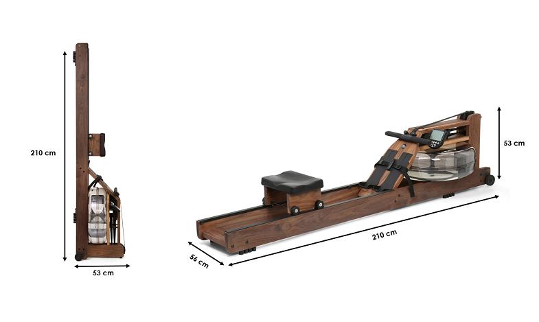 Rameur Waterrower en Noyer S4