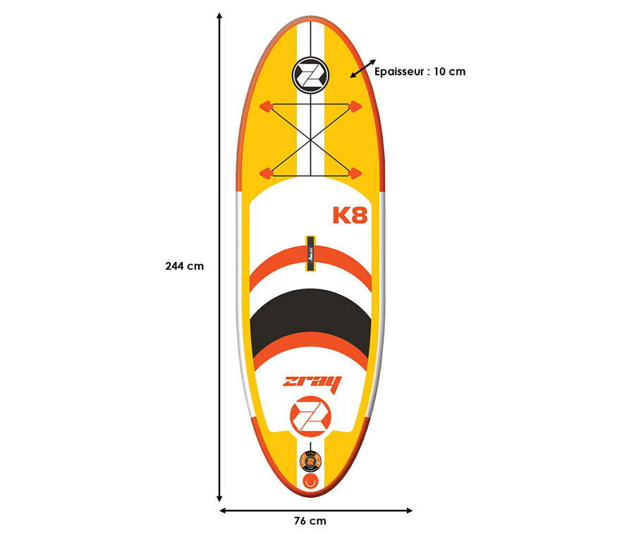 Stand Up Paddle Gonflable Zray K8