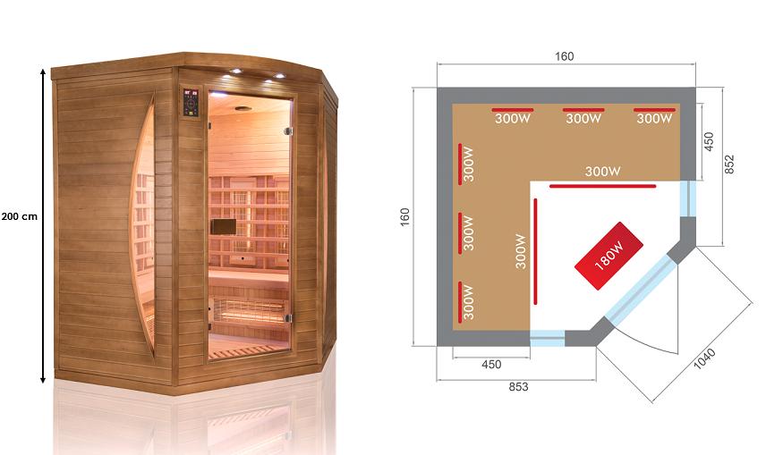 Sauna infrarouge Spectra 3C  3 places