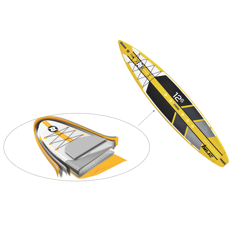 Stand Up Paddle Gonflable Zray R1 - Rapid 12'6