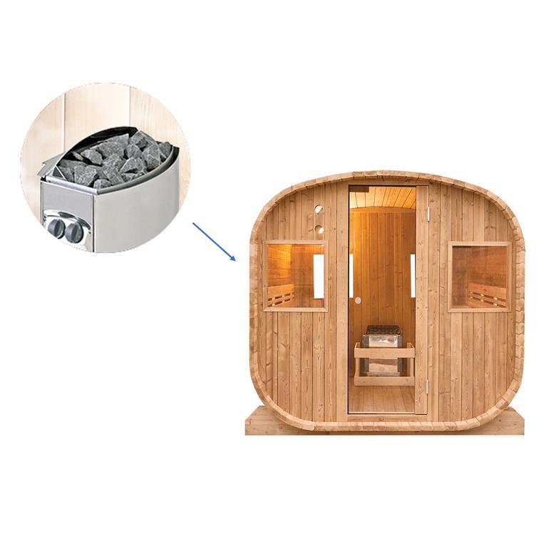 Sauna extérieur vapeur Barrel 6 places