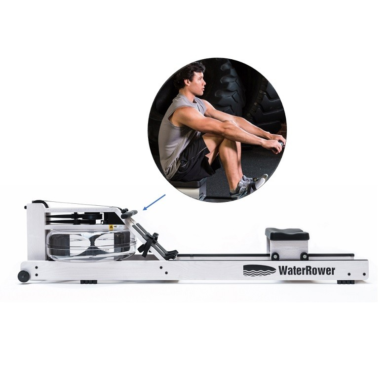 Rameur Waterrower Blanc S4