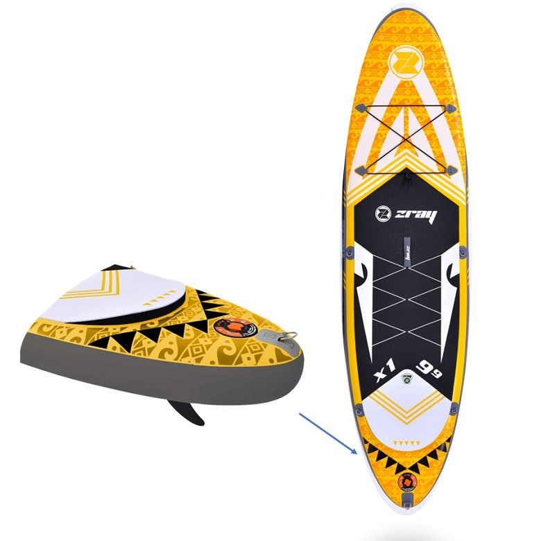 """Stand Up Paddle Gonflable Zray X1 - X Rider 9'9"""""""