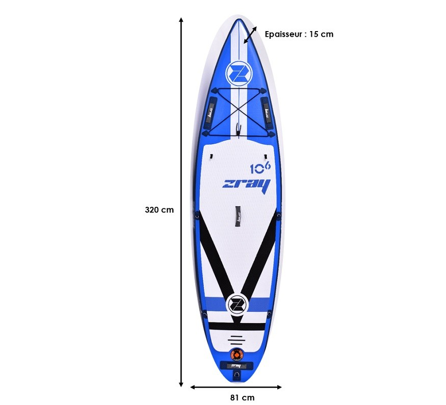 Stand Up Paddle Gonflable Zray F2 - Fury 10'6""
