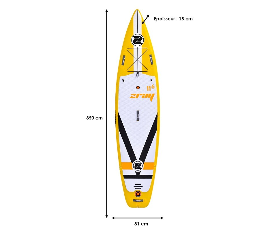 Stand Up Paddle Gonflable Zray F4 - Fury 11'6
