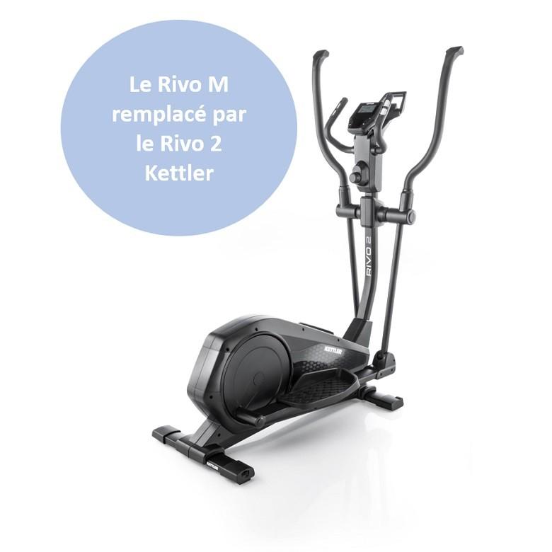 Vélo elliptique Kettler Rivo M Black