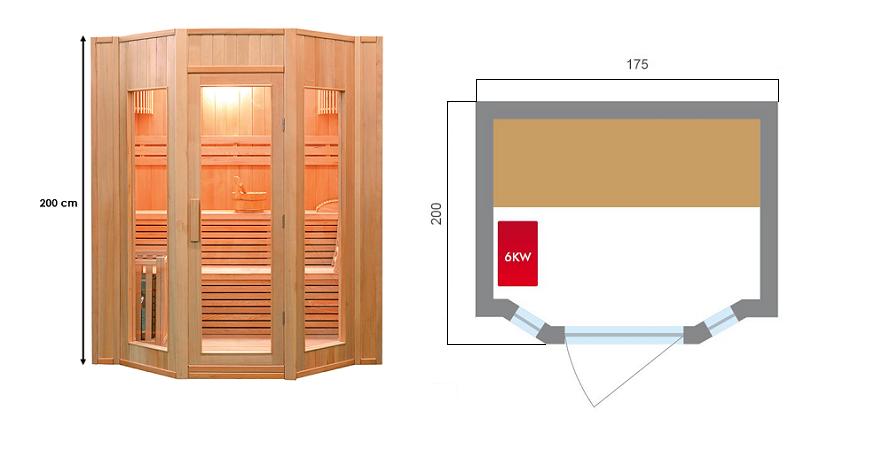 Sauna vapeur ZEN - 4 Places