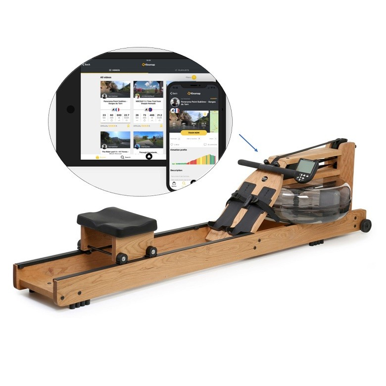 Rameur connecté Com Waterrower Merisier